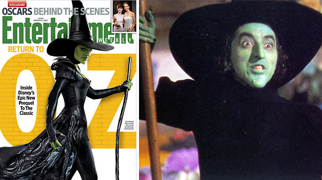 The Wicked Witch, now and then (Photo: Entertainment Weekly/Everett Collection)