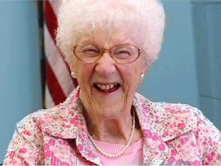 105-year-old Edythe Kirchmaier recently renewed her California drivers license (Facebook)