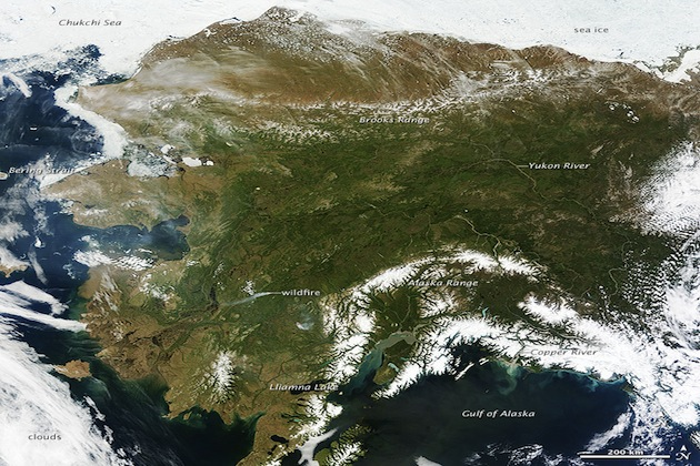 Rare view from space of Alaska on a nearly cloudless day (NASA Goddard Photo and Video)