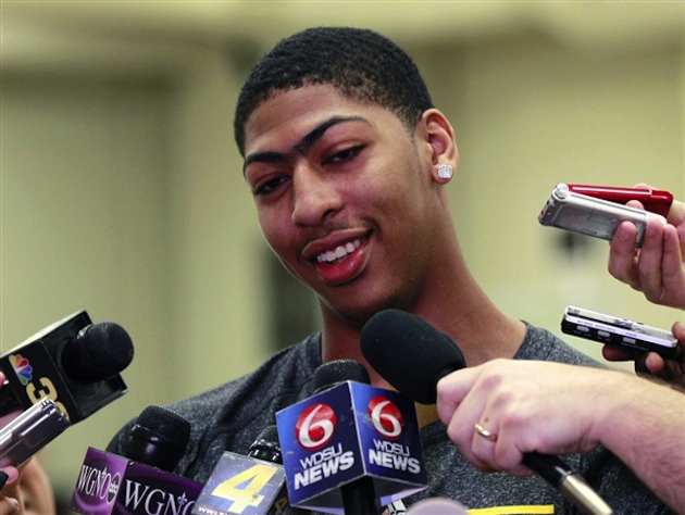 Anthony Davis and his famous unibrow (Gerald Herbert/AP)