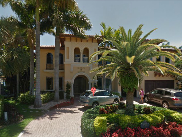 "The $2.5 million Boca Raton mansion being inhabited by Andre ""Loki"" Barbosa (Google Street View)"
