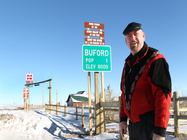 Lone Buford, Wyo., resident Don Sammons (AP/Michael Smith)