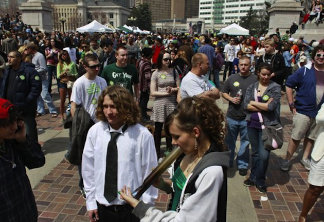 Young people are more likely to support pot legalization, even in the Christian community (AP)
