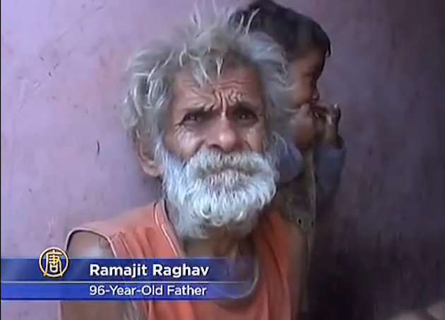 96-year-old Ramjit Raghav is reportedly the world's oldest father. (NTDTV/YouTube)