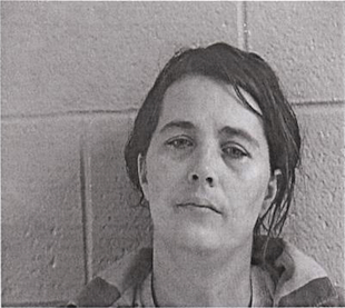 Stacy Duggan was arrested just a week after accidentally being shot in the back of the head by her own son. (Loudon County Courthouse)