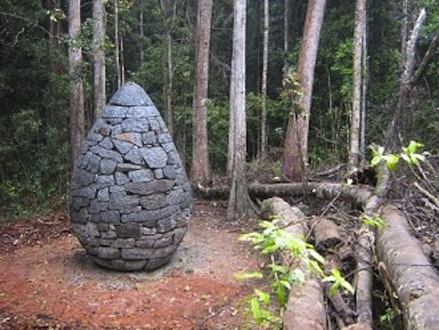 """Strangler Cairn"" inside Conondale National Park (Omar Bakhach/Queensland Public Art Fund)"
