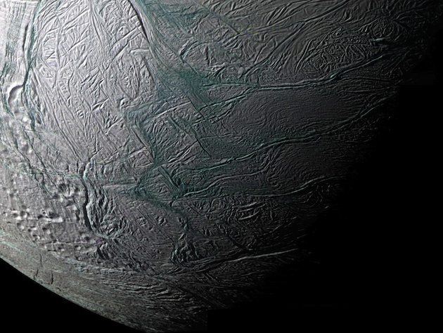 Is there life beneath the icy surface of Enceladus? (AP/NASA)