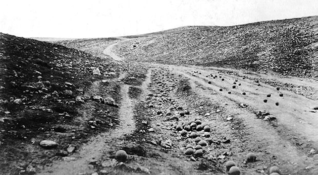 "Roger Fenton's well known photograph, ""The Valley of the Shadow of Death"""