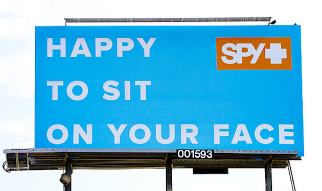 Spy billboard