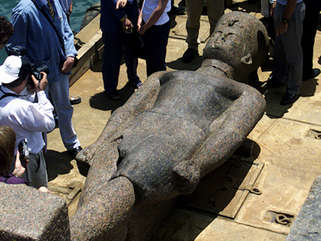 A giant statue recovered from the ancient city Heracleion. (Reuters)