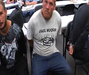 "Don Castner, wearing his ""jail sucks!"" T-shirt (Manatee sheriff's office)"