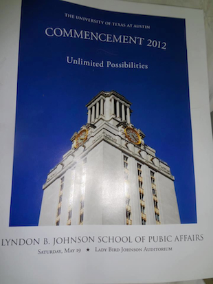 The unfortunate 'pubic affairs' commencement typo (Image via Twitter)