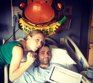 Businessman Matt Lombardi recovering in the ER after one day of P90X (CollegeSpun.com)