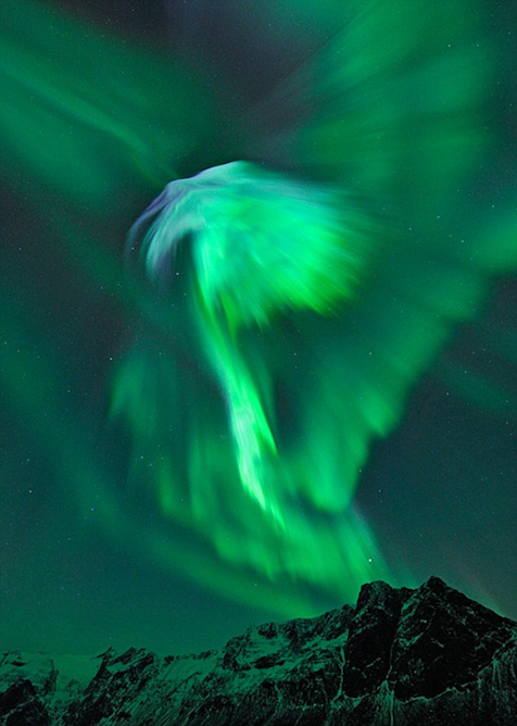 The Northern Lights as seen from Norway