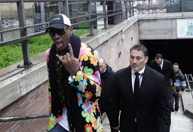 Dennis Rodman in Vatican City (AP)