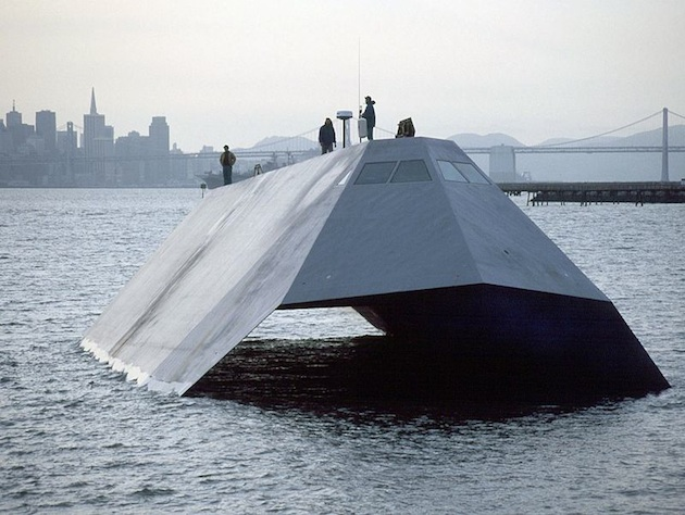 The $195 million Sea Shadow is up for sale. (U.S. Department of Defense)