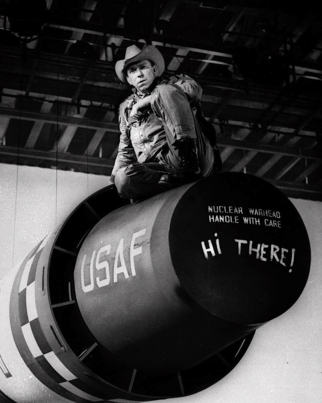 "Actor Slim Pickens on the set of ""Dr. Strangelove."" (AP)"