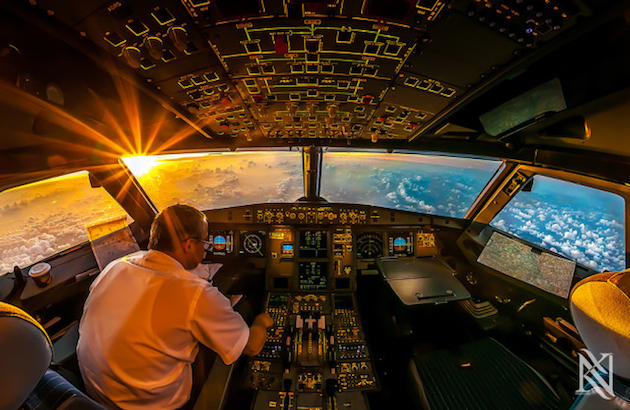 """Sunrise in the Office"" (Karim Nafatni/500px.com)"