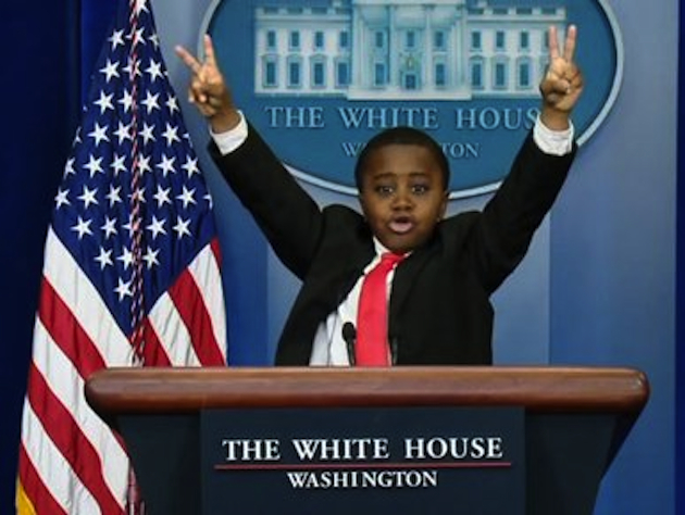 "Even the Obama administration got in on the April Fools' fun with its ""White House Kid"" prank. (ABC News)"