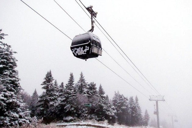 The 'cow-powered' K-1 gondola (Killington)