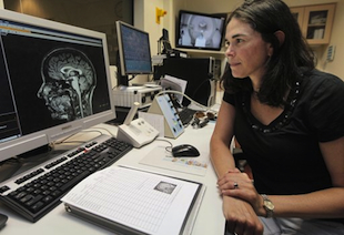 fMRI scans, like the one shown in this photo, could help doctors communicate with brain injured patients (AP)