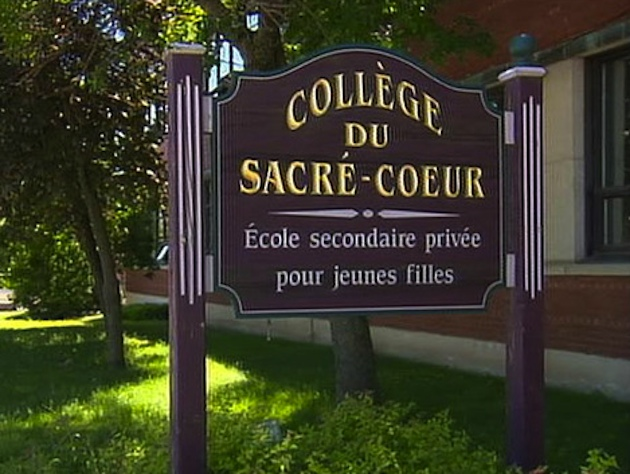 "Collège du Sacré-Coeur, where the ""mass hypnosis"" took place (Radio-Canada)"