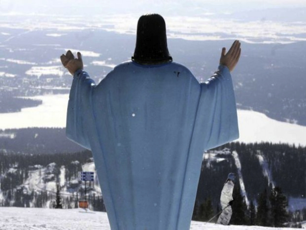 A controversial Jesus statue on a Montana ski resort / TheBlaze.com