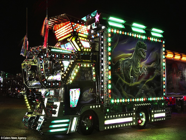 These powerfully lit trucks have been banned from Japanese highways