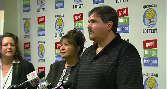 Donald Lawson won the $337 million Powerball jackpot. (WXYZ-TV)