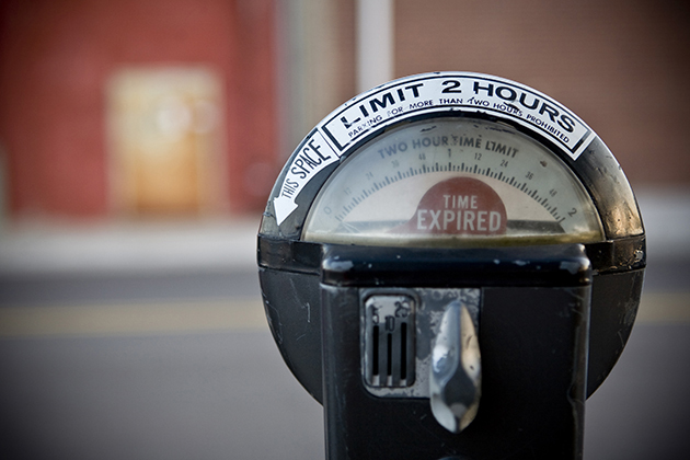 File photo of an expired parking meter (Thinkstock)
