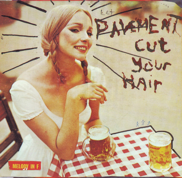 "The cover of Pavement's 1994 album, ""Cut Your Hair"" (Matador Records)"