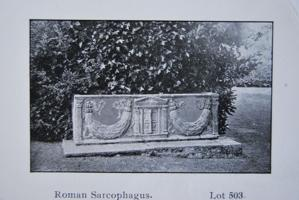 Roman sarcophagus found in garden