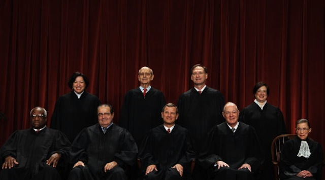 The Supreme Court in October 2010 (Photo by Chip Somodevilla/Getty Images)