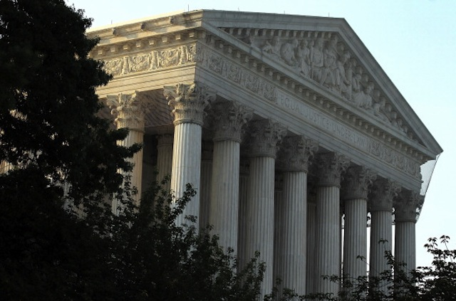 An exterior view of the U.S. Supreme Court on June 21, 2012 in Washington, DC. (Alex Wong/Getty)