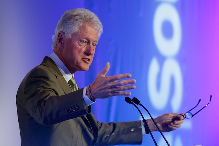 Bill Clinton speaks to the ReSource 2012 conference on July 13, 2012, in Oxford, England. (Matthew Lloyd/Getty Images for ReSource 2012)