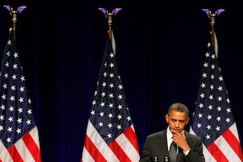 President Barack Obama speaks at a July 24 campaign fundraiser in Portland, Oregon (Jonathan Ferrey/Getty Images)