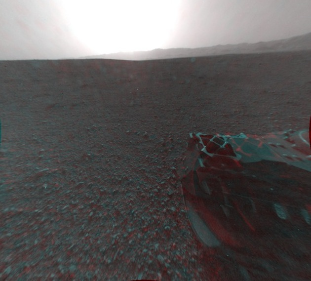 Curiosity captures the view on Mars on August 8 ( NASA/JPL-Caltech via Getty Images)