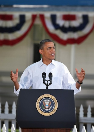 President Barack Obama campaigns in Oskaloosa, Iowa. (Scott Olson/Getty Images)