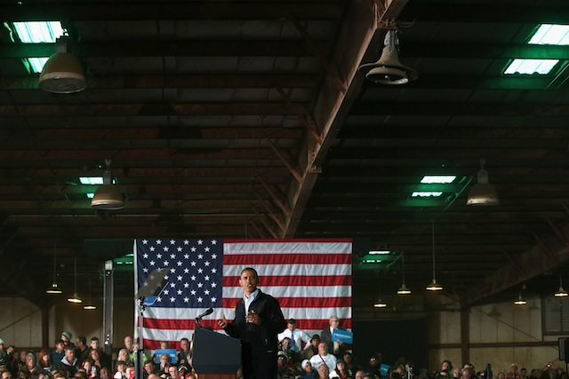 President Barack Obama in Hilliard, Ohio (Chip Somodevilla/Getty Images)