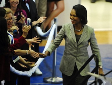 Former Secretary of State Condoleezza Rice greets people at Broward College in Davie, Fla., in November 2012. (Joe Cavaretta/Sun Sentinel/MCT via Getty Images)