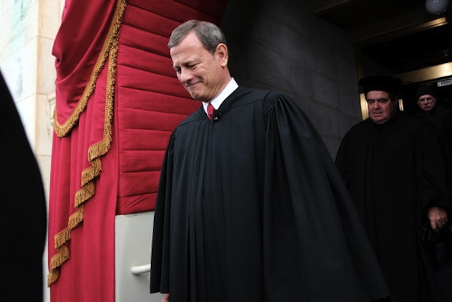 Supreme Court Chief Justice John Roberts at the presidential inauguration in January. (Win McNamee/Getty Images)
