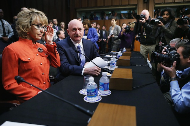 FormerRep. Gabby Giffords and her husband Retired NASA astronaut Mark Kelly (Chip Somodevilla/Getty Images)
