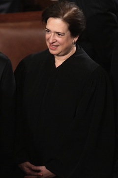 Supreme Court Associate Justice Elena Kagan attends U.S. President Barack Obama's State of the Union speech. (Chip Somodevilla/Getty Images)