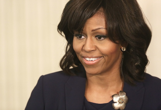 "Michelle Obama speaks to students about the movie ""42"" (Alex Wong/Getty Images)"