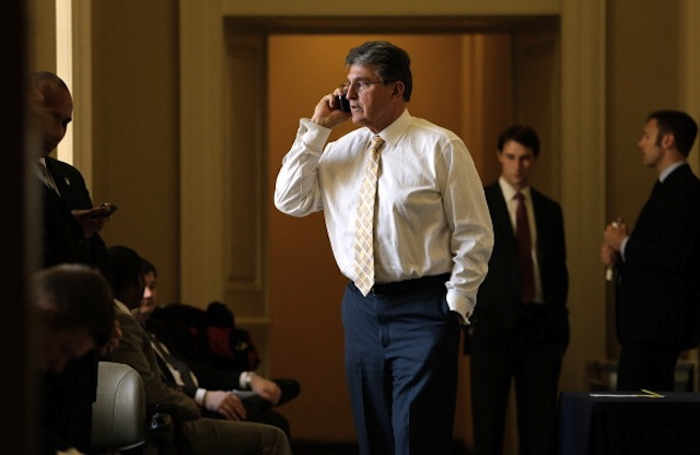 Sen. Joe Manchin, D-W.V., outside the weekly Democratic policy luncheon April 9, 2013, in Washington, D.C. (Win McNamee/Getty Images)