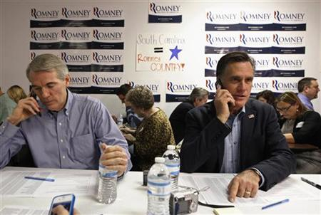 Portman and Romney (Jim Young/Reuters)