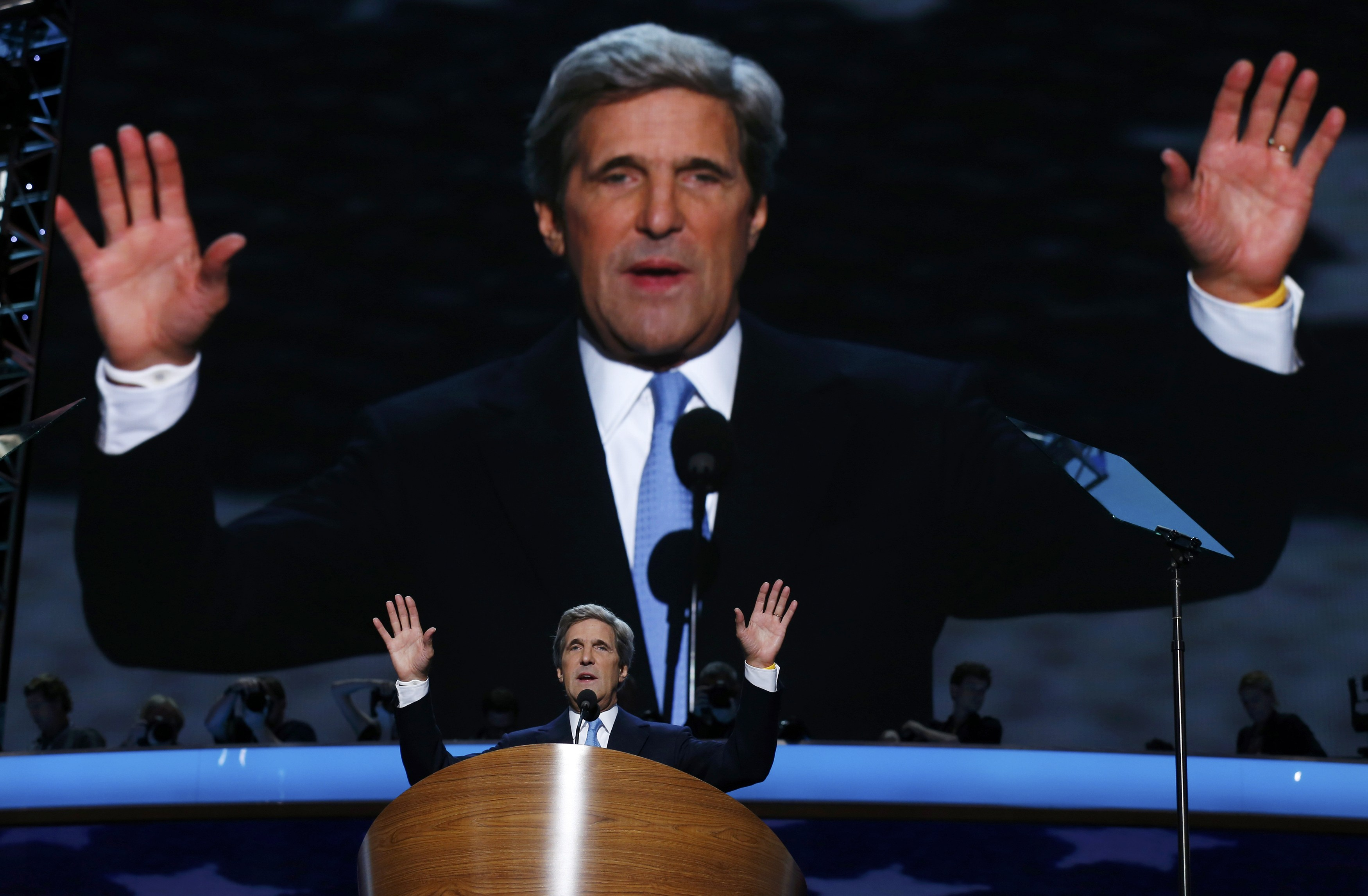Senator John Kerry at the 2012 Democratic National Convention (Jim Young/Reuters)