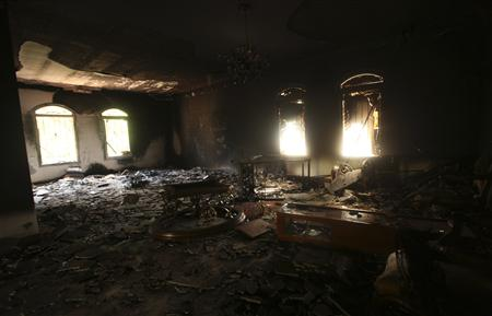An interior view of the U.S. Consulate, which was attacked and set on fire by gunmen, in Benghazi. (Esam Al-Fetori/Reuters)