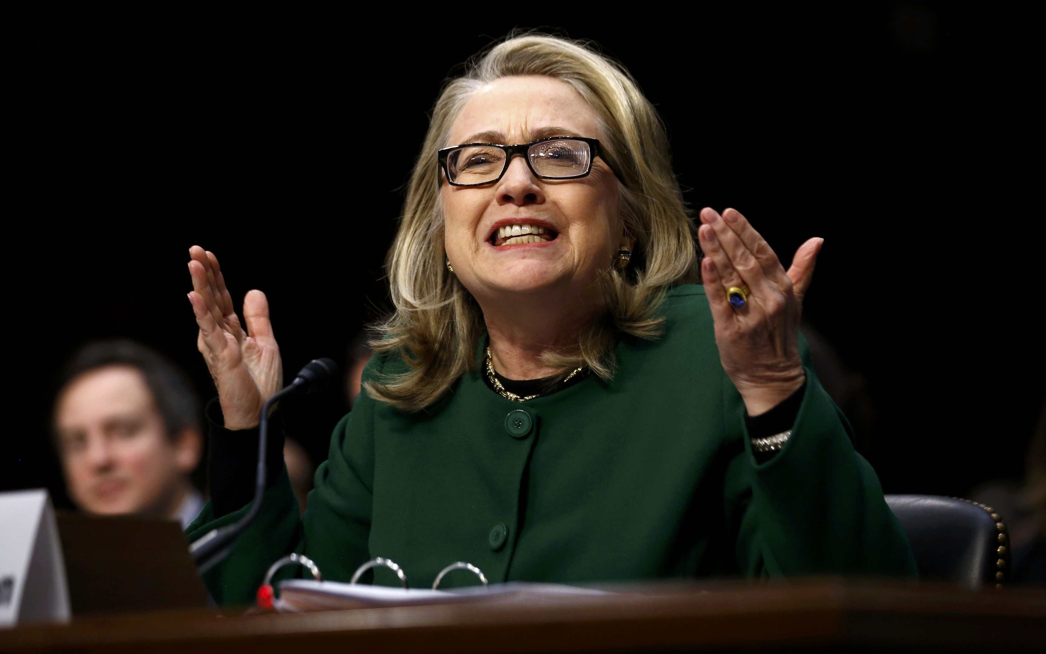 Secretary of State Hillary Clinton responds forcefully to intense questioning on the September attack on the U.S. compound in Benghazi, Libya (Jason Reed/Reuters)