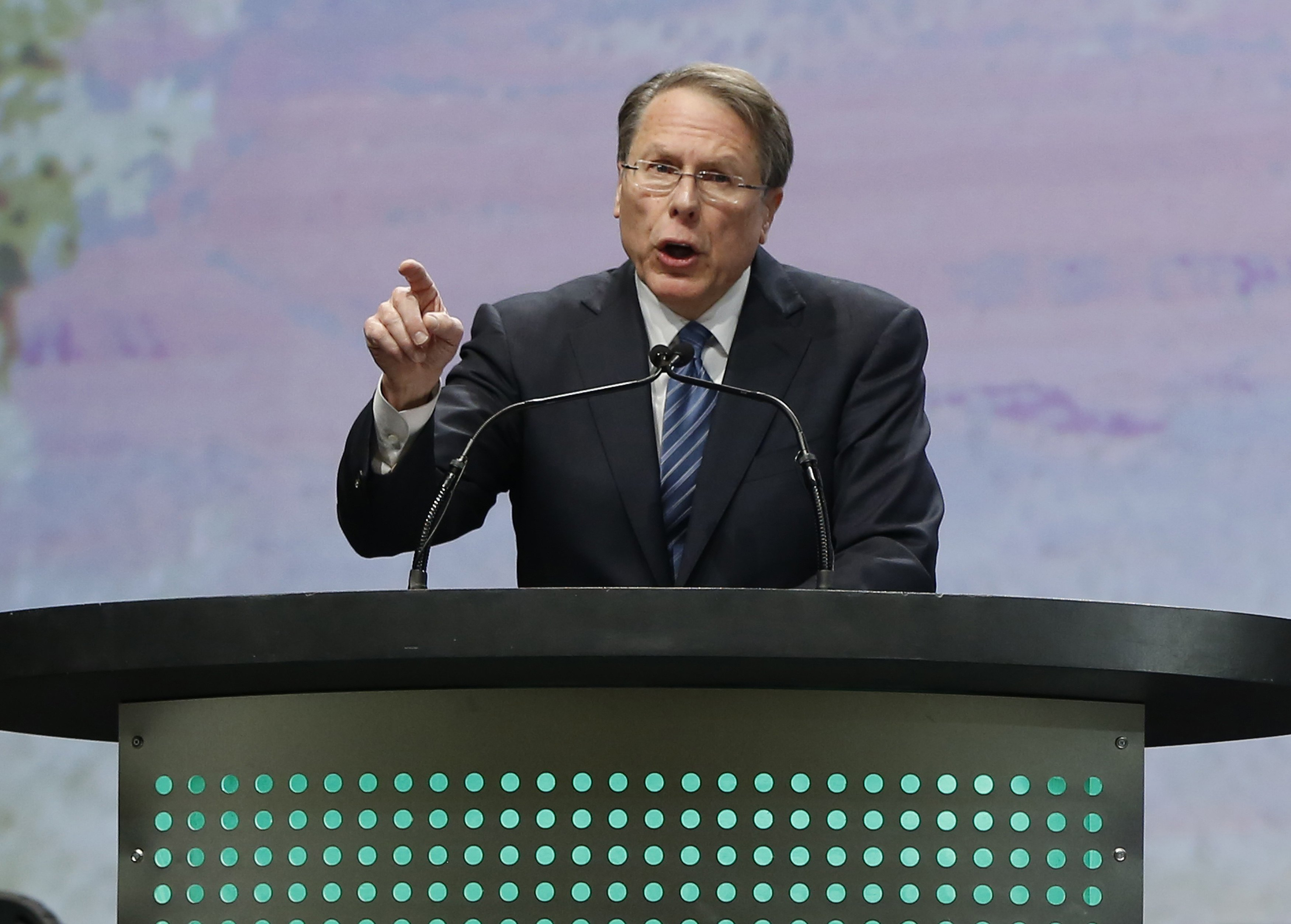 NRA Executive Vice President Wayne LaPierre at the Western Hunting and Conservation Expo in Salt Lake City in February. (Jim Urquhart/Reuters)